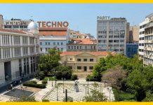 Techno πάρτι στην πλατεία Σανταρόζα